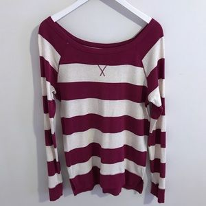 The limited soft striped long sleeve top size med